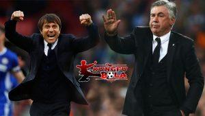 carlos ancelotti dan Antonio Conte