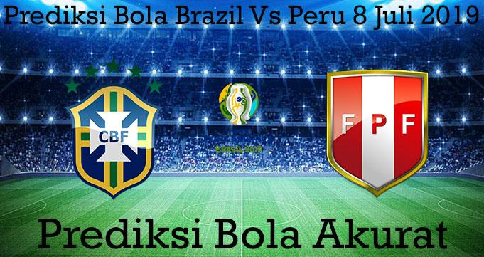 Prediksi Bola Brazil Vs Peru 8 Juli 2019