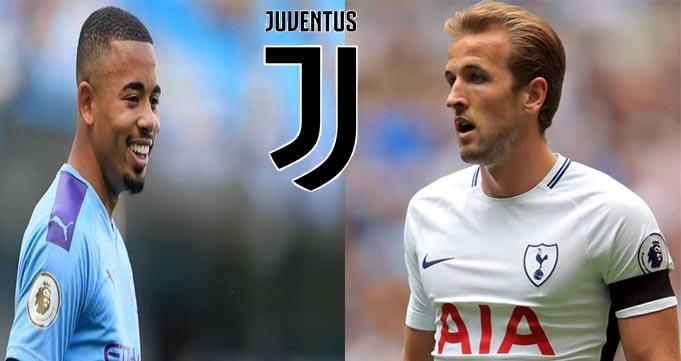 Juventus Berencana Bidik Harry Kane dan Gabriel Jesus