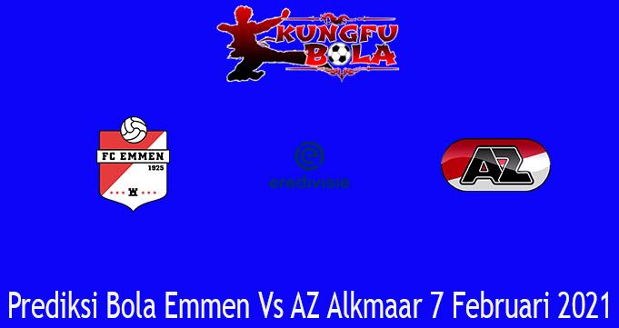 Prediksi Bola Emmen Vs AZ Alkmaar 7 Februari 2021